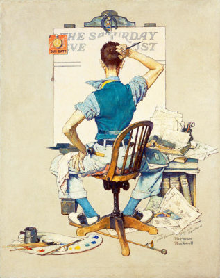 Norman Rockwell - Blank Canvas (Deadline), 1938