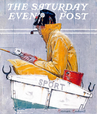 Norman Rockwell - Sport (Man in Fishing Boat), 1939