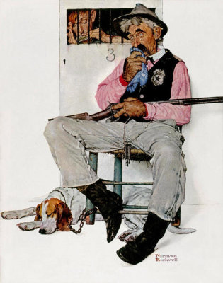 Norman Rockwell - Sheriff and Prisoner (Music Hath Charms, Sheriff Guarding Jail), 1939