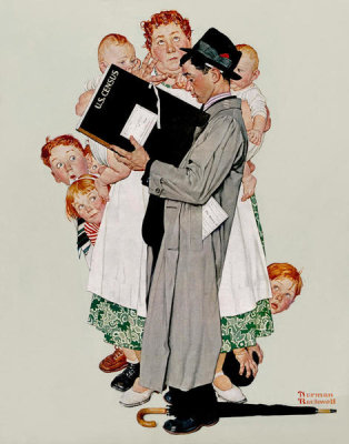 Norman Rockwell - Census Taker, 1940