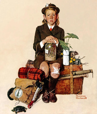 Norman Rockwell - Home from Camp, 1940