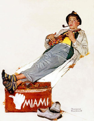 Norman Rockwell - Hitchhiking to Miami (The Hitchhiker), 1940