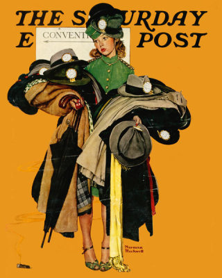 Norman Rockwell - Hat Check Girl, 1941