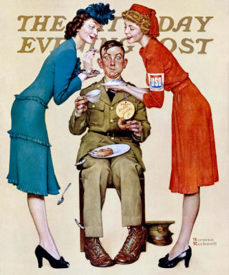 Norman Rockwell - Willie Gillis at the USO, 1942