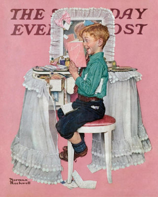 Norman Rockwell - Secrets (Boy Reading Sister's Diary)