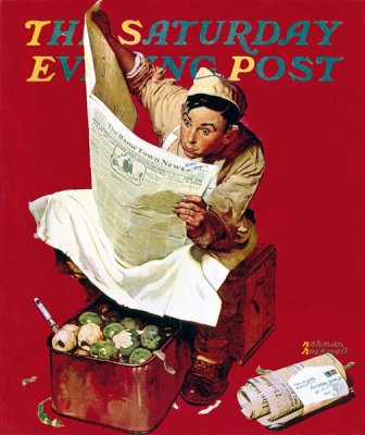 Norman Rockwell - Willie Gillis on K.P., 1942