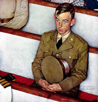 Norman Rockwell - Willie Gillis in Church, 1942