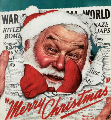 Norman Rockwell - Santa's in the News