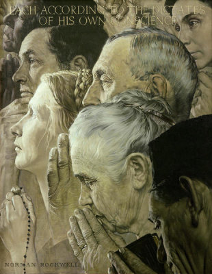 Norman Rockwell - Freedom to Worship, 1943