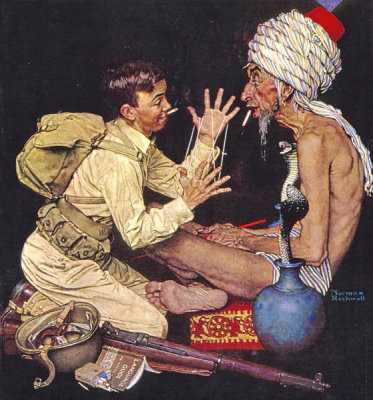 Norman Rockwell - Willie's Rope Trick, 1943