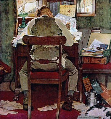Norman Rockwell - Income Taxes, 1945