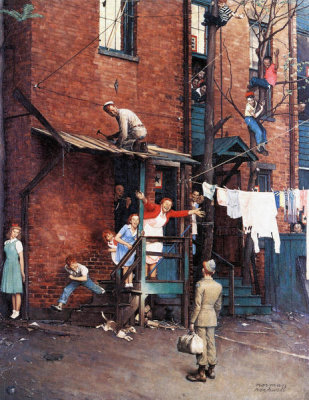 Norman Rockwell - Homecoming G.I., 1945