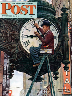 Norman Rockwell - The Clock Mender, 1945