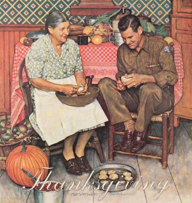 Norman Rockwell - Home for Thanksgiving, 1945