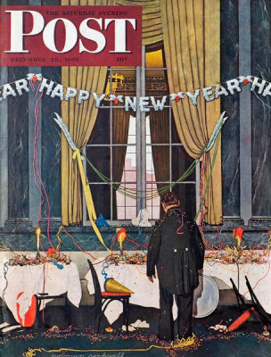 Norman Rockwell - Happy New Year, 1945