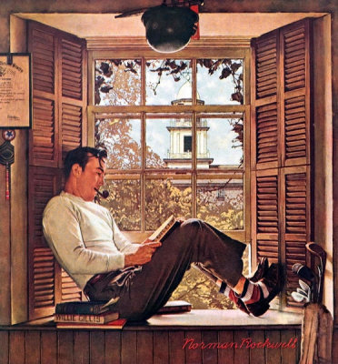 Norman Rockwell - Willie Gillis in College, 1946