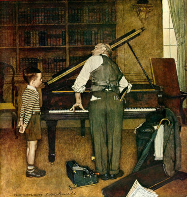 Norman Rockwell - Piano Tuner, 1947