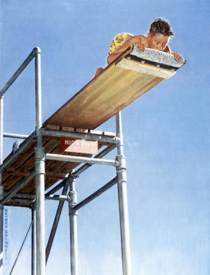 Norman Rockwell - High Dive, 1947