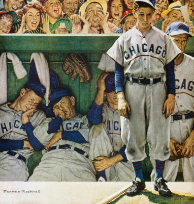 Norman Rockwell - The Dugout (Chicago Cubs in Dugout), 1948