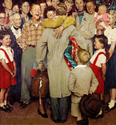 Norman Rockwell - Christmas Homecoming