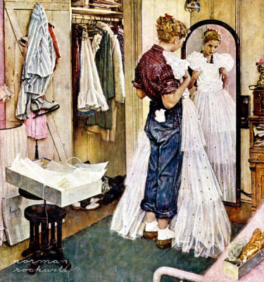 Norman Rockwell - Prom Dress, 1949