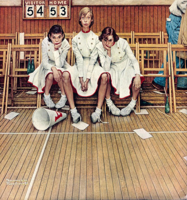 Norman Rockwell - Losing the Game (Cheerleaders), 1952