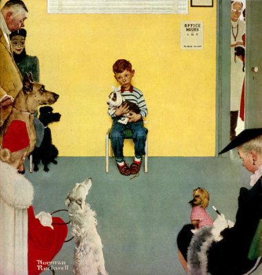 Norman Rockwell - Waiting for the Vet, 1952