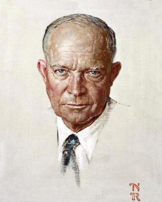 Norman Rockwell - The Day I Painted Ike, 1952