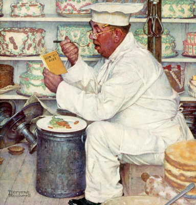 Norman Rockwell - How to Diet, 1953