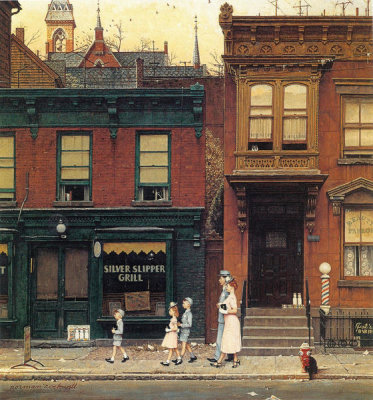 Norman Rockwell - Walking to Church, 1953