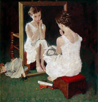 Norman Rockwell - Girl at the Mirror, 1954