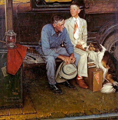 Norman Rockwell - Breaking Home Ties