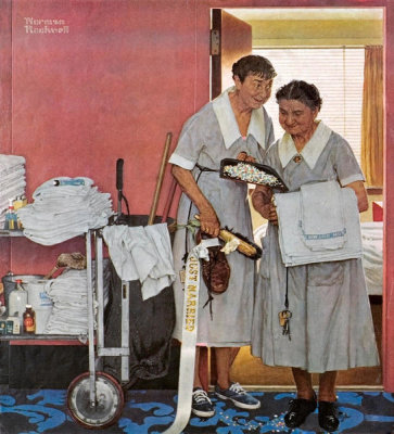 Norman Rockwell - Just Married