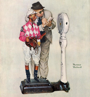 Norman Rockwell - Jockey Weighing In, 1958