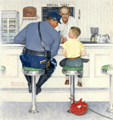 Norman Rockwell - The Runaway, 1958