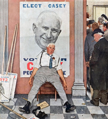 Norman Rockwell - Elect Casey, 1958