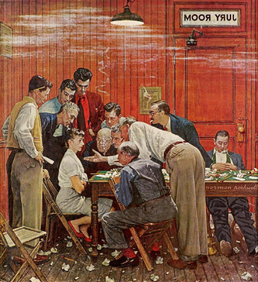 Norman Rockwell - Jury Room