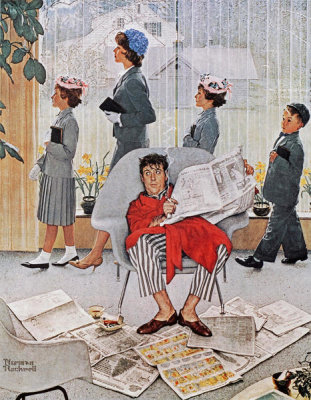 Norman Rockwell - Sunday Morning (Easter Morning), 1959