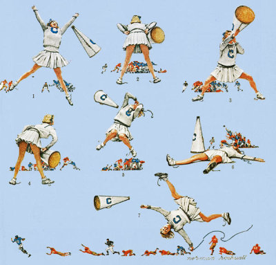 Norman Rockwell - Cheerleader, 1961