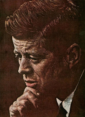 Norman Rockwell - Portrait of John F. Kennedy