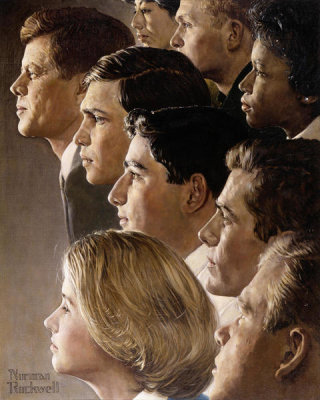 Norman Rockwell - The Peace Corps - JFK's Bold Legacy