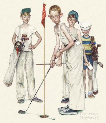 Norman Rockwell - Four Sporting Boys - Missed, 1951