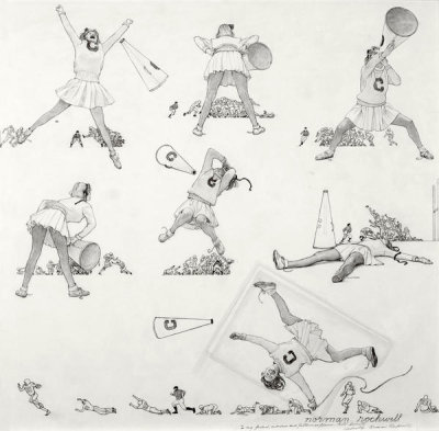 Norman Rockwell - Cheerleader (Drawing)