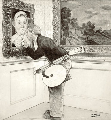 Norman Rockwell - Art Critic (Drawing), 1955