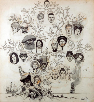 Norman Rockwell - Family Tree (Drawing), 1959