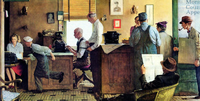 Norman Rockwell - Norman Rockwell Visits a Country Editor