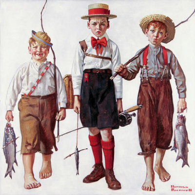 Norman Rockwell - The Catch, 1919