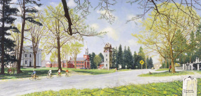 Norman Rockwell - Springtime in Stockbridge (Norman Rockwell's 78th Spring), 1971