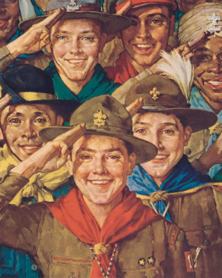 Norman Rockwell - An Army of Friendship, 1933