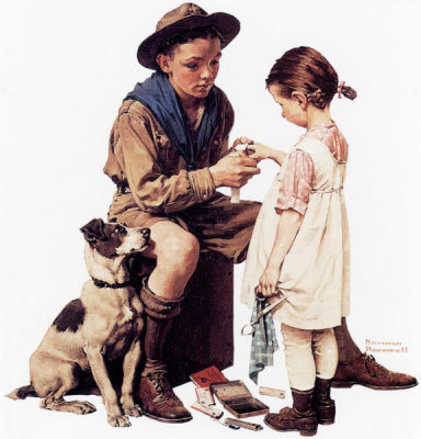 Norman Rockwell - Boys and Girls First Aid Week, 1926